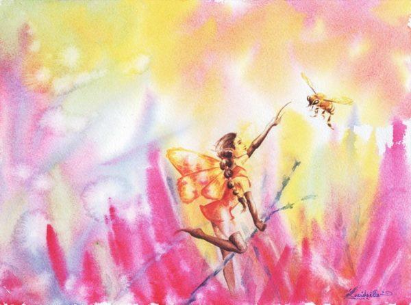 Poster Abeilles fée
