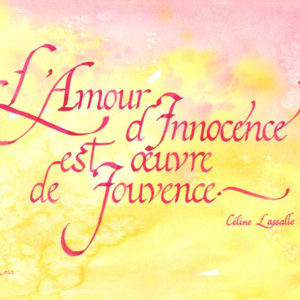 calligraphie Amour-Innocence