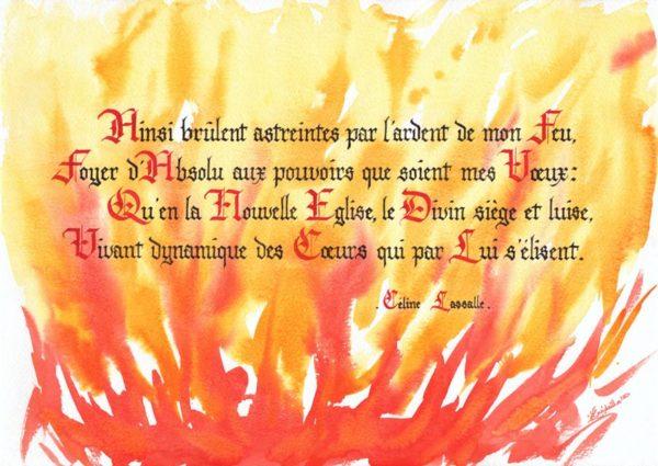 calligraphie Ardent Feu