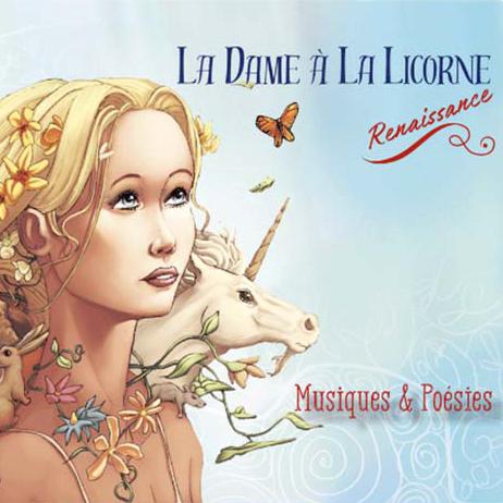 pochette cd dame à la licorne