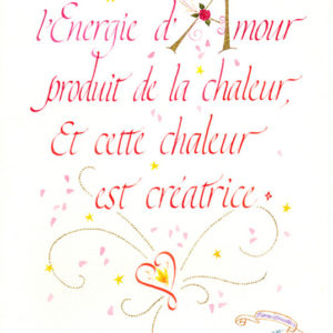 Calligraphie Energie Amour