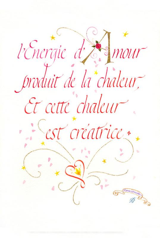 Calligraphie Energie Amour