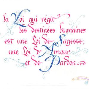 calligraphie Loi des Destinée
