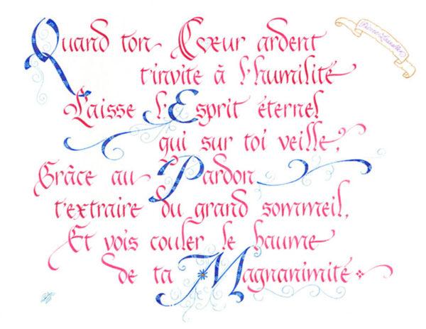 calligraphie Coeur Ardent