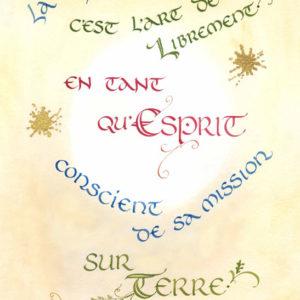 calligraphie Spiritualité Art