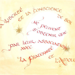 calligraphie Liberté et Conscience