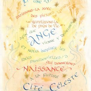 Calligraphie Oeuvre communautaire