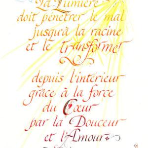 calligraphie Lumière