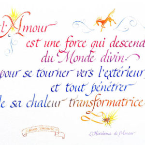calligraphie Amour force