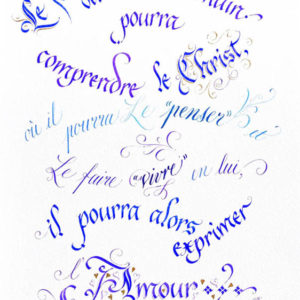 Calligraphie Comprendre le Christ