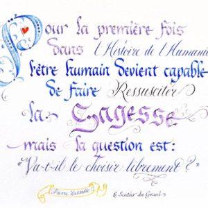 calligraphie Ressusciter la Sagesse