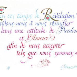 calligraphie Temps de Révélation