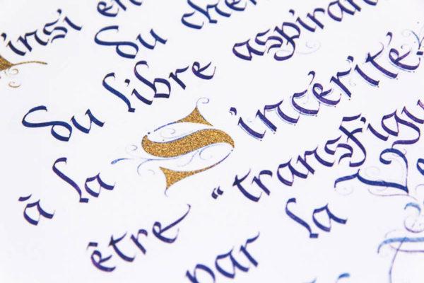 impression calligraphie