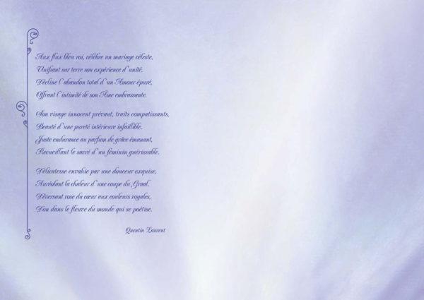 Carte intérieur poème