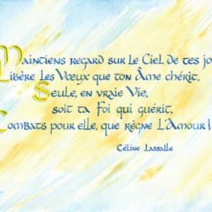 calligraphie Ciel-Foi