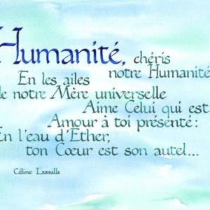 calligraphie Humanité