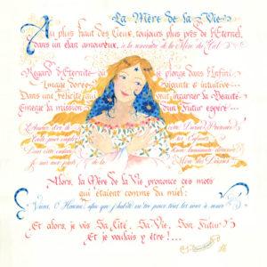 Calligraphie La Mère de la Vie