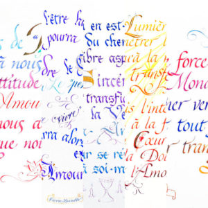 Lot 5 calligraphies A4