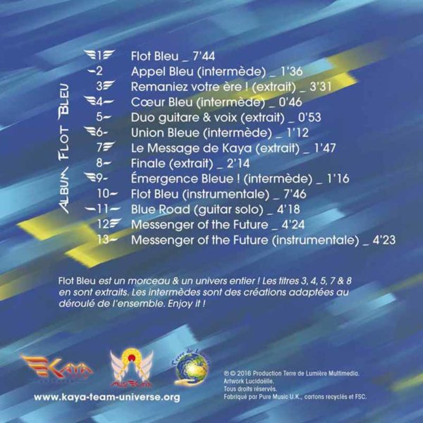 Dos pochette cd MusiKaya Flot Bleu