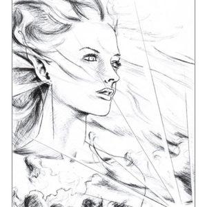 dessin fée vent