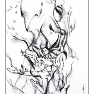 dessin fée flamme