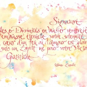 calligraphie Signature