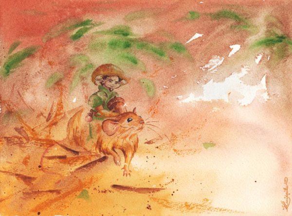 Poster souris et gnome