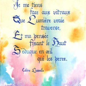 calligraphie Vitraux