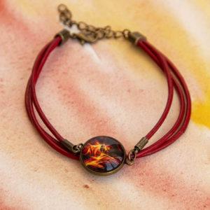 Bracelet cordon Feu