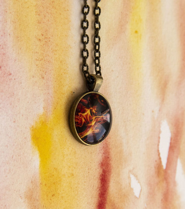 Collier Flamme rond