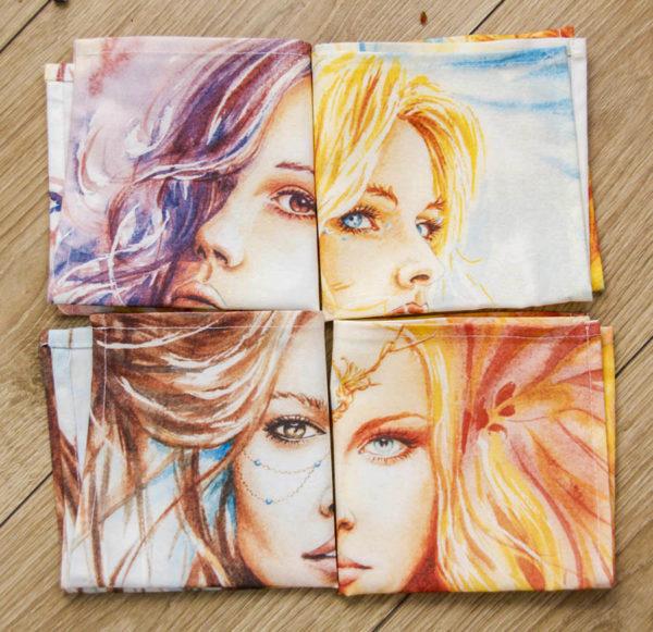 4 Serviettes 4 fées