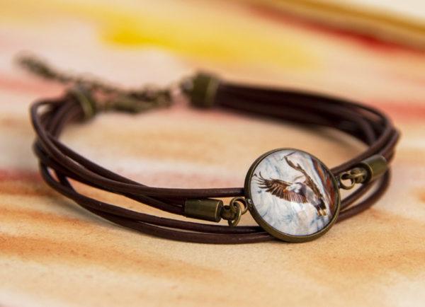 Bracelet à cordon Aigle pigargue