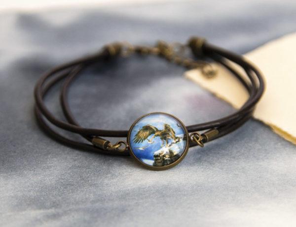 Bracelet à cordon Aigle royal