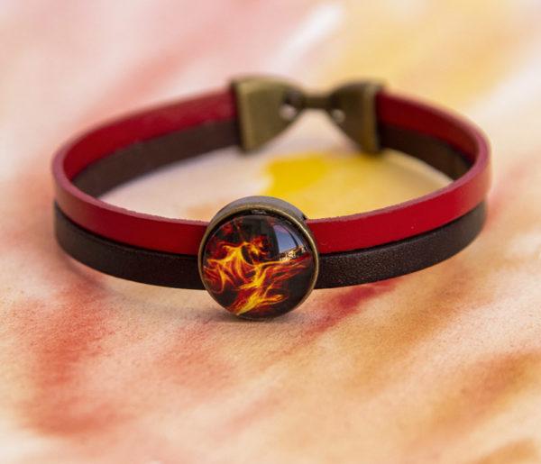 Bracelet double Feu